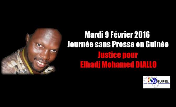 Guinée : Une journée sans presse ce mardi pour condamner la mort de El Hadj Mohamed Diallo
