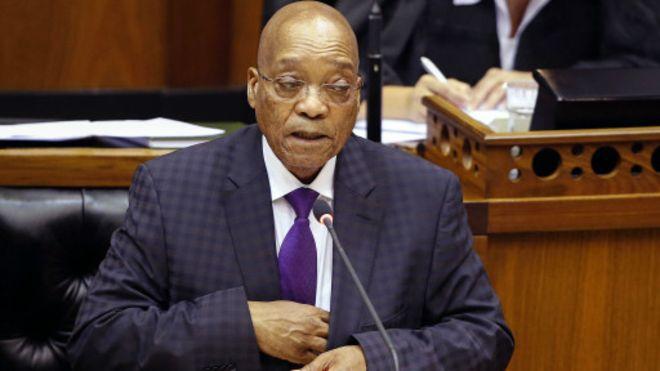 Discours très attendu de Zuma