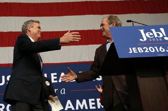 J-265 : Deux Bush en campagne