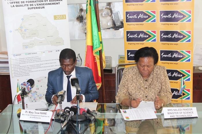 Sénégal/Afrique du Sud : 250 millions de FCfa pour soutenir la science et la technologie.