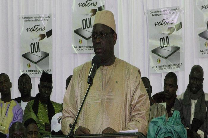 Guédiawaye: Macky Sall prédit la victoire du Oui