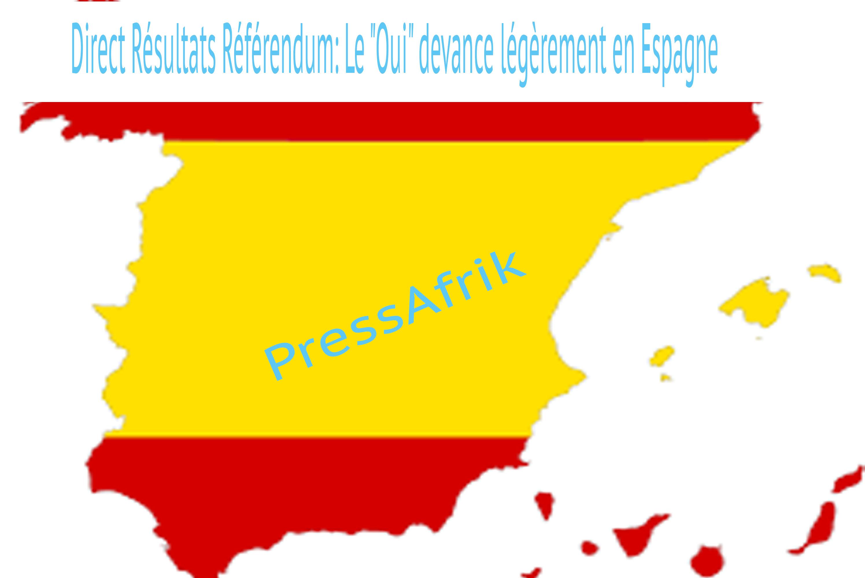 """Direct Résultats Référendum: Espagne continue dans la tendance du """"Oui"""""""