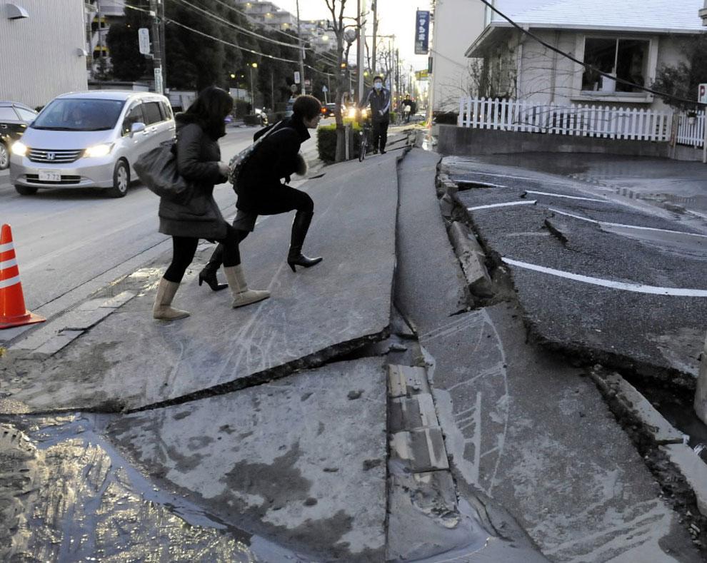 Fort tremblement de terre au Japon
