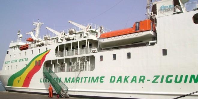 Liaison maritime Dakar-Ziguinchor : le navire Aline Sitoé sera aux arrêts pour une révision technique