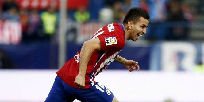 Angel Correa a débloqué le match contre Malaga. (J. Medina/Reuters)