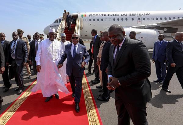 Réunion paix et sécurité en zone Uemoa : Macky Salle est arrivé à Abidjan