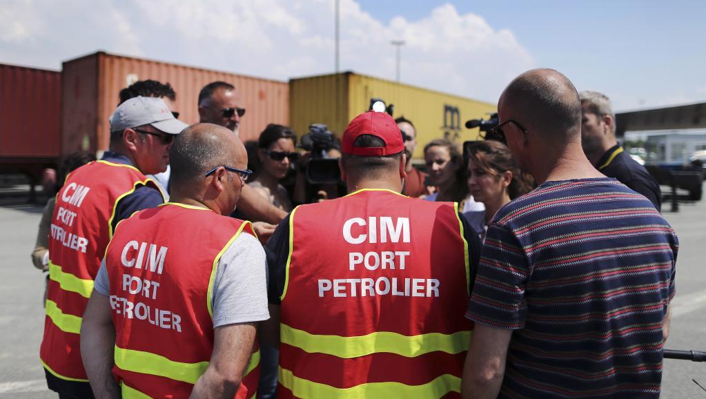 Mouvement contre la loi Travail: le terminal pétrolier du Havre reste perturbé