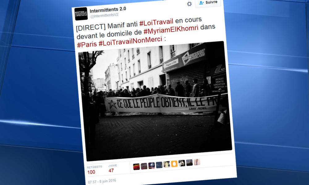 """Hollande juge """"inadmissible"""" la manifestation chez Myriam El Khomri"""
