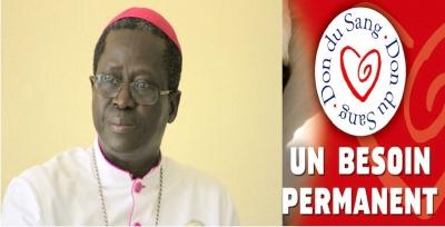 Mgr Benjamin Ndiaye, parrain de la Journée Mondiale du Don de Sang à Dakar