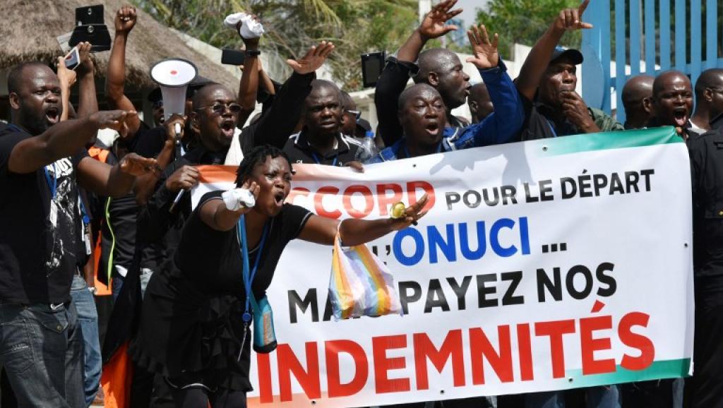 Côte d'Ivoire: manifestation d'employés locaux de la mission de l'ONU