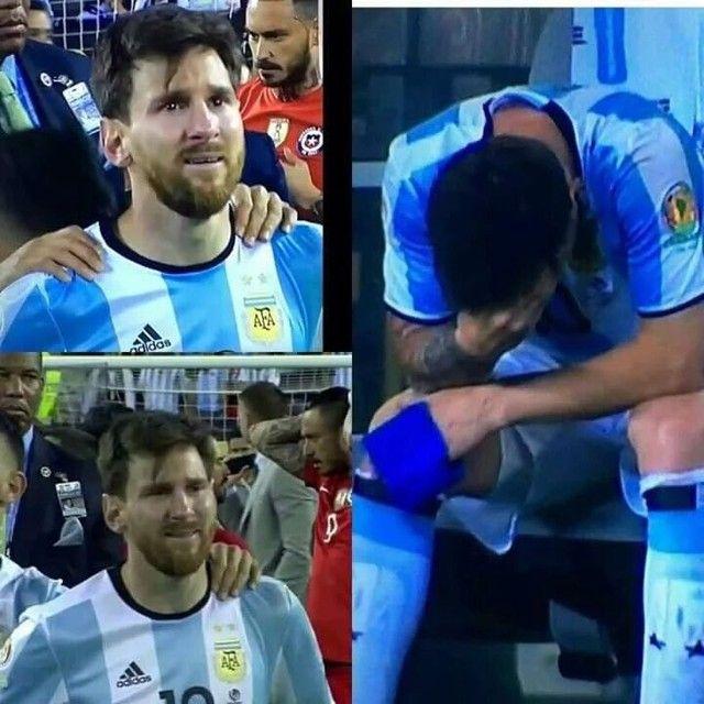 PHOTOS : les larmes de Messi