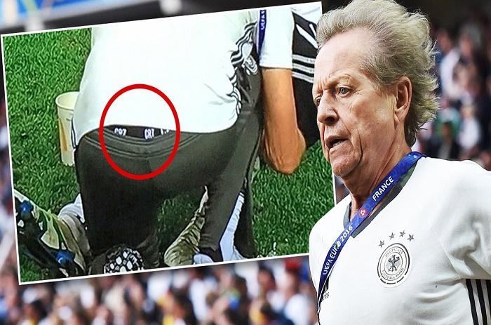 Euro : le slip du médecin de l'équipe d'Allemagne fait polémique