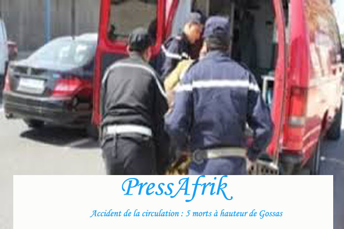Accident de la circulation : 5 morts à hauteur de Gossas