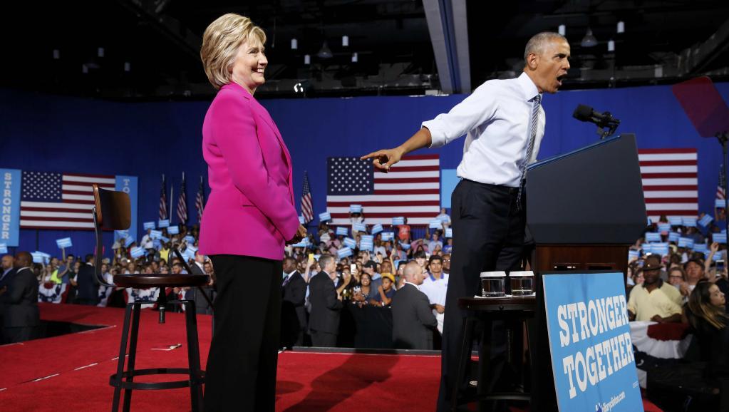 Pour leur premier meeting, Barack Obama fait l'éloge d'Hillary Clinton