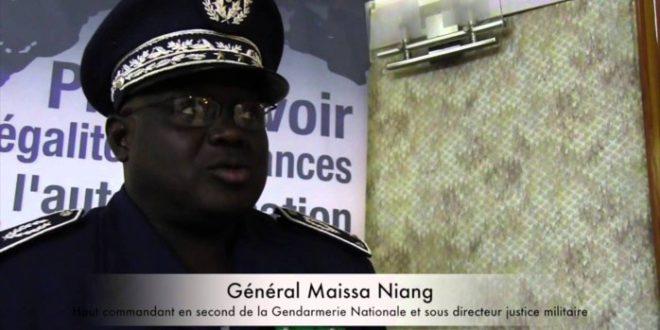Gendarmerie nationale : le général Mamadou Guèye Faye remplacé par le général Meïssa Niang