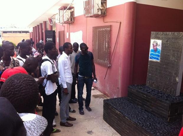 UCAD : Bassirou Faye immortalisé - un monument à sa mémoire