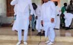 Le Président de la CAF en visite à la Mosquée Massalikoul Jinaan... en compagnie de Diomansy Kamara