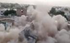 La vidéo spectaculaire de l'effondrement de l'immeuble à Touba