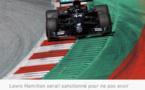 Lewis Hamilton rétrogradé de trois places, Max Verstappen entre en première ligne