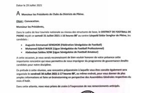 La convocation de la Ligue de Dakar qui montre que Samba Sarr était bien convié à la rencontre