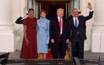 Investiture de Donald Trump: Donald et Melania sont arrivés à la Maison Blanche pour prendre le thé avec les Obama