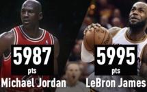 LeBron James est devenu le meilleur marqueur de l'histoire des play-offs en NBA devant Michael Jordan