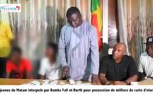 Bamba Fall et Barthélémy Dias arrêtent deux jeunes avec plus d'un millier de cartes d'électeurs ( Vidéo)