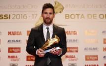 Messi remporte le soulier d'or européen  2016-2017