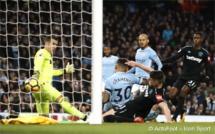 Premier League : City s'impose difficilement devant West Ham (2-1) et maintient son avance sur ManU