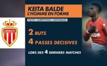 Keita Baldé, l'homme en forme du moment à Monaco : 4 matchs, 4 passes décisives, 2 buts
