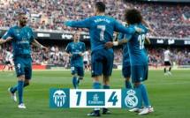21e journée Liga : Le Real Madrid gagne à Valence et fait les affaires du FC Barcelone
