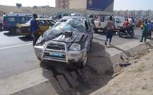 Accident sur l'autoroute à péage : Un véhicule se renverse et fait quatre blessés