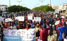 Après Thiès et Dakar, les enseignants du G6 ont marché à Kaolack ce jeudi et menacé de...