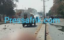 Scandaleux !!! La vidéo du véhicule de police qui fonce sur les étudiants