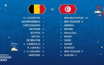 Belgique-Tunisie : les compos officielles