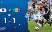 """Mi-temps Sénégal-Japon (1-1) : les """"Lions"""" sont loin de dominer dans le jeu"""
