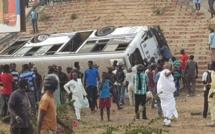 Bilan provisoire accident minibus Patte d'Oie : 6 personnes dans état critique parmi les 67 blessés