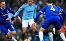Vainqueur d'Everton (3-1), Manchester City reprend la tête de la Premier League