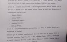 Le Conseil constitutionnel affiche la liste définitive sans Khalifa Sall et Karim Wade