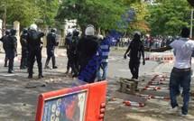DIAPO Une station à essence et une pharmacie endommagées, des personnes grièvement blessées