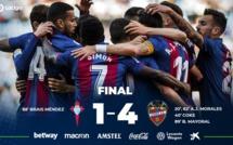 Liga : Levante se balade contre le Celta Vigo (4-1)