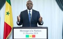 Adresse à la nation: le Président Macky Sall s'engage à consolider la paix en Casamance