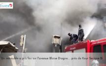 Vidéo - Un immeuble a pris feu sur l'avenue Blaise Diagne... près de Keur Serigne Bi