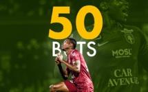 Fc Metz: Habib Diallo inscrit son 5e doublé de la saison et atteint la barre des 50 buts en Ligue 2