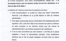 Recommandation de l'UE sur le parrainage: Aly Ngouille Ndiaye réplique et s'agrippe à la souveraineté du peuple