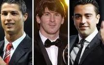 FIFA ballon d'or : Messi, Ronaldo et Xavi en finale