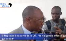 """Vidéo - El Haj Kassé à sa sortie de la DIC: """"Je n'ai jamais enfoncé qui que ce soit"""""""