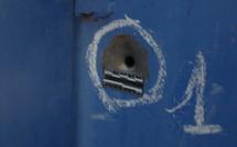 Images de la fusillade - Bienvenue au far west les impacts de balle relevés par la police scientifique