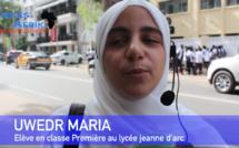 Vidéo - Marie Nwedr, élève voilée à l'Institution Jeanne d'Arc crie sa rage devant l'école et défie la Direction