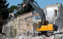 Hann-Fann: démolition à l'instant des habitations construites sur le Collecteur de l'Onas